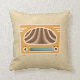 Vintage Tube Radio Collector Pillow