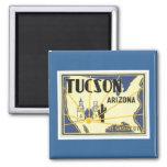 Vintage Tucson Arizona 2 Inch Square Magnet