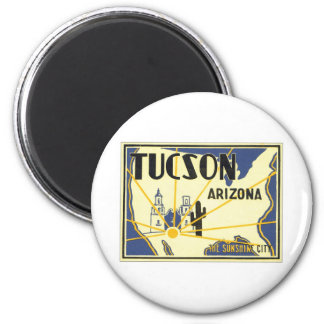 Vintage Tucson Arizona Fridge Magnet