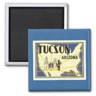 Vintage Tucson Arizona Refrigerator Magnet