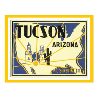 Vintage Tucson Arizona Tarjetas Postales
