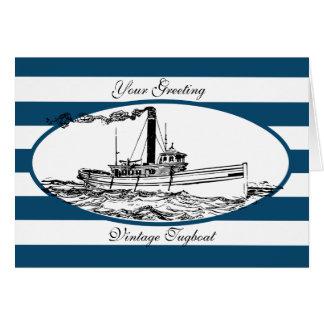 Vintage Tugboat Card