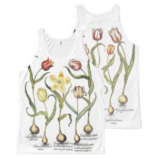 Vintage Tulip Flowers Floral Botanical Garden Art All-Over Print Tank Top
