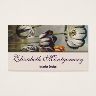 Vintage Tulip Flowers Professional Business Card