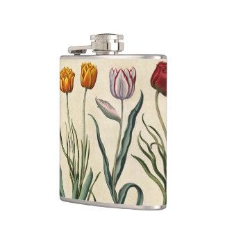 VIntage Tulip Illustration Flask