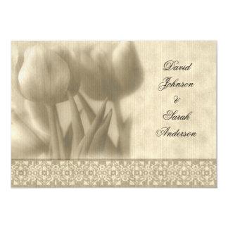 Vintage Tulip Wedding Invitation