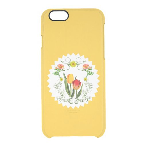 Vintage Tulips iPhone 6 Clearly™ Deflector Case