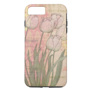 Vintage Tulips on Floral Background iPhone 7 Plus Case