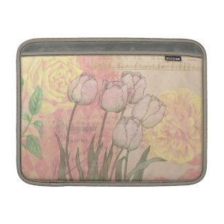 Vintage Tulips on Floral Background Sleeve For MacBook Air