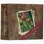 "Vintage Tulips Photo Album 2"" Binder"