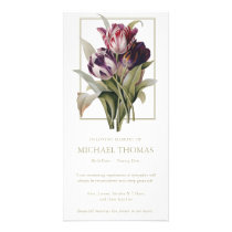 Vintage Tulips Sympathy Funeral Thank You Cards