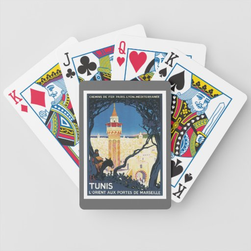 Vintage Túnez África Baraja Cartas De Poker