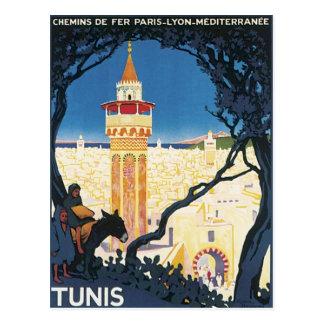 Vintage Túnez África Postal