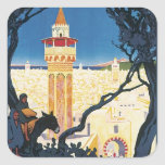 Vintage Tunis Africa Stickers