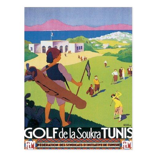Vintage Tunis Tunisia Postcard