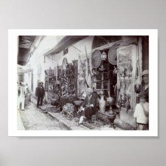 Vintage Tunisia Tunis  Baazar 1900's Poster