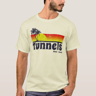 Vintage Tunnels Beach Haena Kauai Hawaii T-Shirt