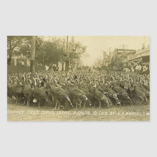 Vintage Turkey Farm Photograph Rectangular Sticker