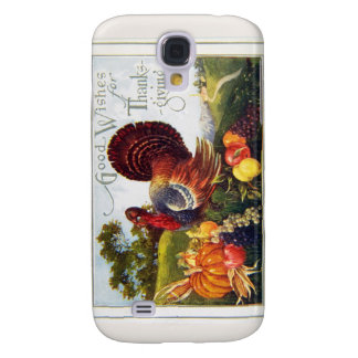 Vintage Turkey Thanksgiving Samsung Galaxy S4 Cases