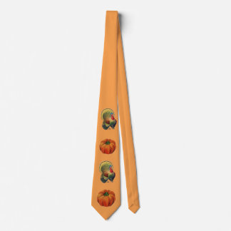 Vintage Turkeys And Pumpkins Neck Tie