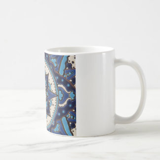 Vintage Turkish art blue and white tile design Mug