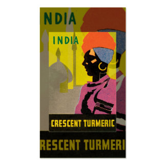 Vintage Turmeric Business Card
