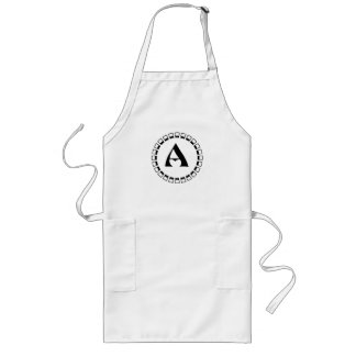 Vintage turn of the century, monogram A Long Apron