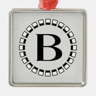 Vintage turn of the century, monogram B Metal Ornament