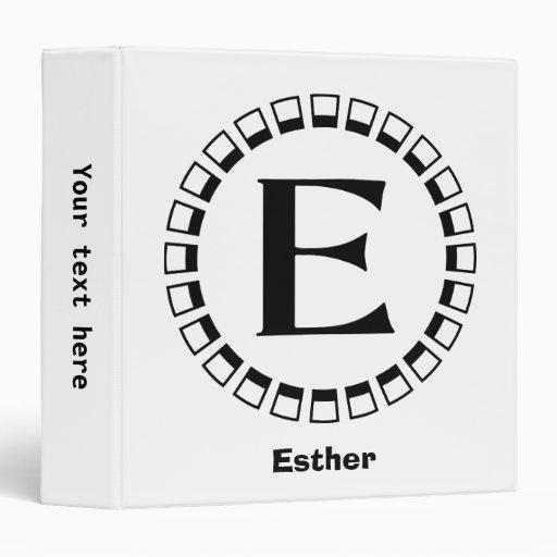 Vintage turn of the century, monogram E Binder