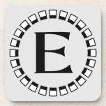 Vintage turn of the century, monogram E Coasters