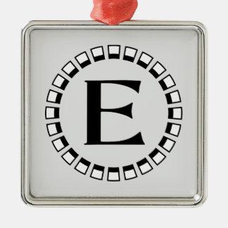 Vintage turn of the century, monogram E Metal Ornament
