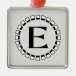 Vintage turn of the century, monogram E Ornament