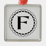 Vintage turn of the century, monogram F Christmas Ornament