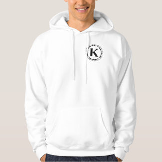 Vintage turn of the century, monogram K Hoodie
