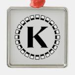 Vintage turn of the century, monogram K Ornament