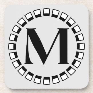 Vintage turn of the century, monogram M Drink Coaster