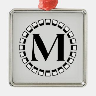 Vintage turn of the century, monogram M Metal Ornament