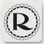 Vintage turn of the century, monogram R Coasters