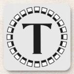 Vintage turn of the century, monogram T Coasters