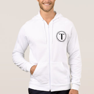 Vintage turn of the century, monogram T Hoodie