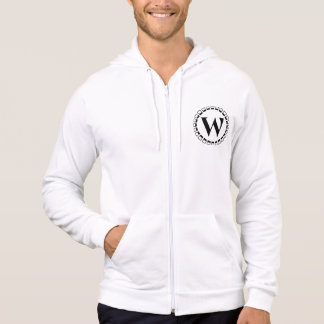 Vintage turn of the century, monogram W Hoodie