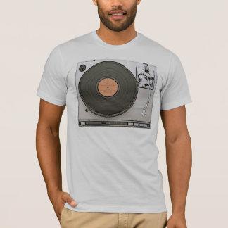 Vintage Turn Table gray semi fitted mens tshirt