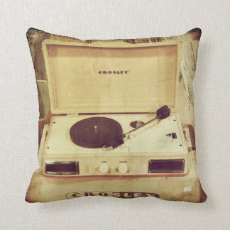 Vintage Turntable Pillow