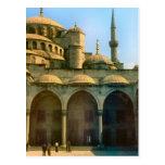 Vintage Turquía - mezquita de Estambul Postal
