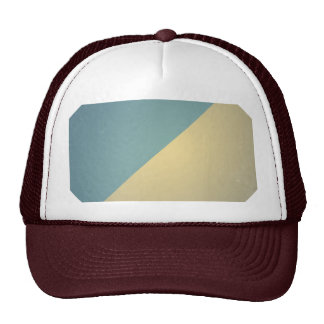 Vintage Turquoise Blue Cream ColorBlock Background Hats