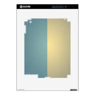 Vintage Turquoise Blue Cream ColorBlock Background iPad 2 Skins