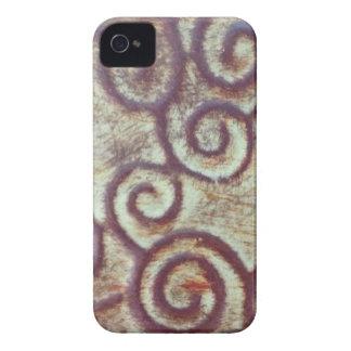 VINTAGE TURQUOISE/BROWN METAL DESIGN iPhone 4 Case-Mate CASE