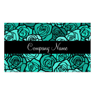 Vintage turquoise roses Business Card