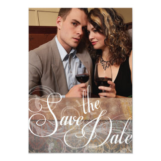Vintage Tuscan Save the Date Photo Card