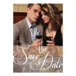 Vintage Tuscan Save the Date Photo Cards